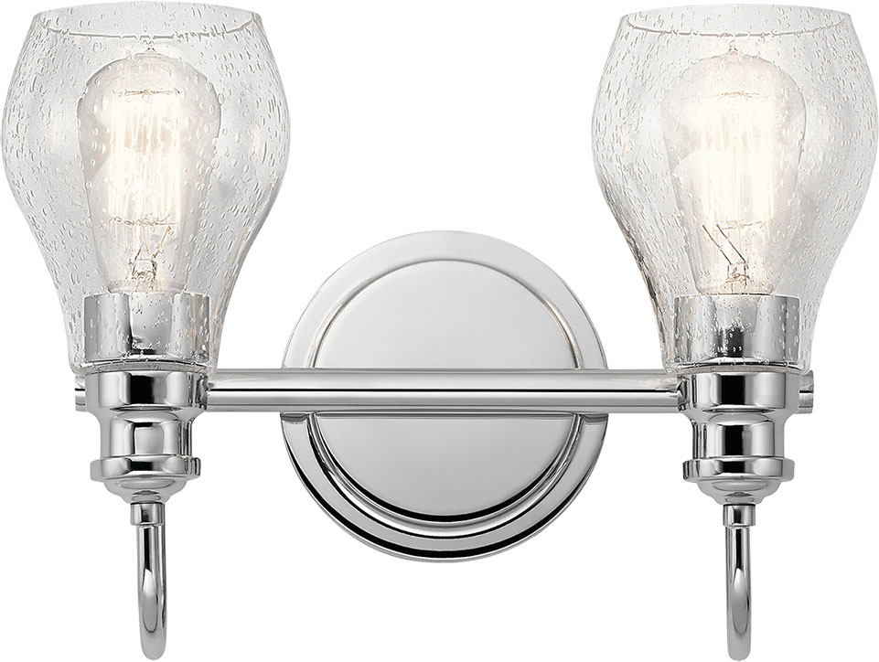 Kichler 45391CH Greenbrier Contemporary Chrome 2-Light