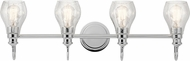 Kichler 45393CH Greenbrier Contemporary Chrome 4-Light Bathroom Light Fixture