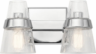 Kichler 45396CH Reese Contemporary Chrome 2-Light Bathroom Vanity Lighting