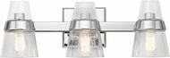 Kichler 45397CH Reese Modern Chrome 3-Light Bathroom Vanity Light