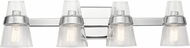 Kichler 45398CH Reese Contemporary Chrome 4-Light Bathroom Sconce