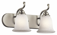 Kichler 45422NI Camerena Traditional Style 2 Lamp Brushed Nickel Bath Sconce - 18 Inches Wide