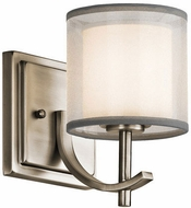 Kichler 45449AP Tallie Contemporary Antique Pewter Sconce Lighting