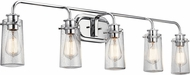 Kichler 45461CH Braelyn Modern Chrome Bathroom Lighting