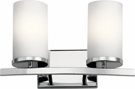 Kichler 45496CH Crosby Contemporary Chrome 2-Light Bath Sconce