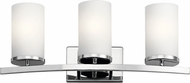 Kichler 45497CH Crosby Modern Chrome 3-Light Bathroom Vanity Light Fixture