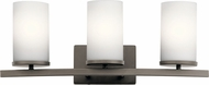 Kichler 45497OZ Crosby Modern Olde Bronze 3-Light Bath Wall Sconce
