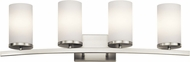 Kichler 45498NI Crosby Modern Brushed Nickel 4-Light Bathroom Lighting Sconce