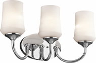 Kichler 45570CHL16 Aubrey Chrome LED 3-Light Lighting For Bathroom