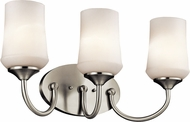 Kichler 45570NIL16 Aubrey Brushed Nickel LED 3-Light Bath Lighting