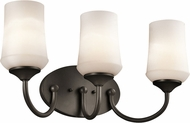 Kichler 45570OZL16 Aubrey Olde Bronze LED 3-Light Bathroom Light