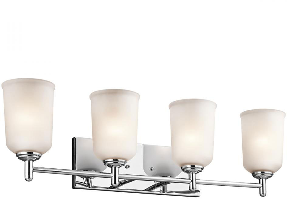 Kichler 45575CH Shailene Chrome 4-Light Bathroom Light Fixture - KIC ...