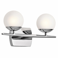 Kichler 45581CH Jasper Contemporary Chrome Halogen 2-Light Vanity Lighting Fixture
