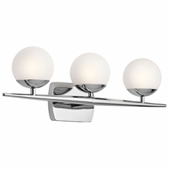 Kichler 45582CH Jasper Contemporary Chrome Halogen 3-Light Bathroom Wall Sconce