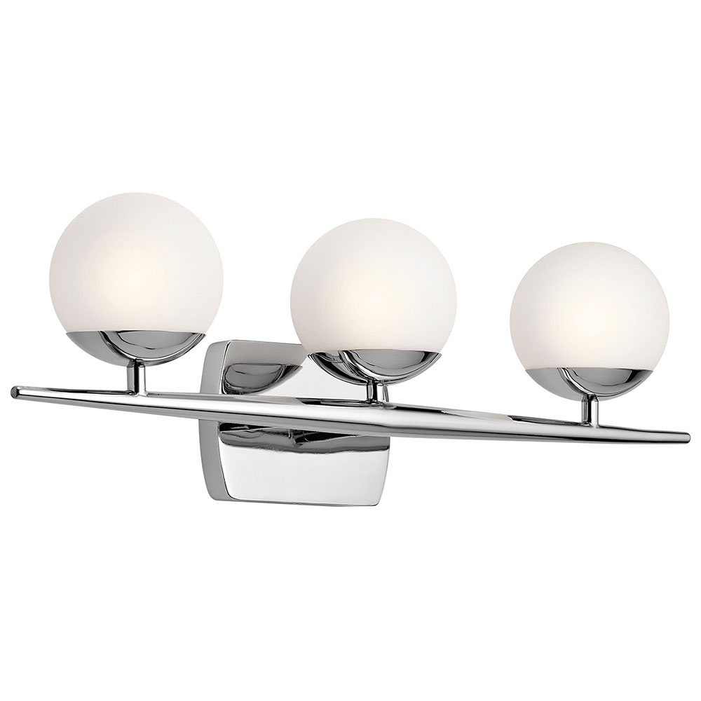 Kichler 45582ch jasper contemporary chrome halogen 3 light bathroom kichler 45582ch jasper contemporary chrome halogen 3 light bathroom wall sconce loading zoom aloadofball Images