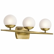 Kichler 45582NBR Jasper Modern Natural Brass Halogen 3-Light Bath Wall Sconce