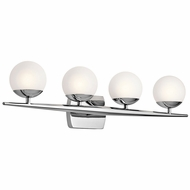 Kichler 45583CH Jasper Contemporary Chrome Halogen 4-Light Bathroom Light Sconce