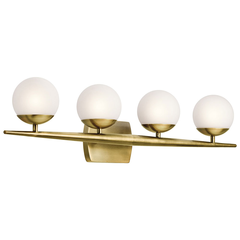 Bon Kichler 45583NBR Jasper Modern Natural Brass Halogen 4 Light Bathroom  Lighting Sconce. Loading Zoom