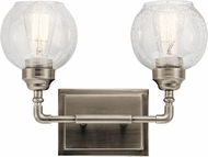 Kichler 45591AP Niles Modern Antique Pewter 2-Light Bath Light Fixture