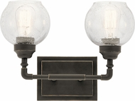 Kichler 45591OZ Niles Contemporary Olde Bronze 2-Light Bath Lighting Fixture