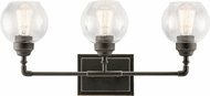 Kichler 45592OZ Niles Contemporary Olde Bronze 3-Light Bathroom Vanity Lighting