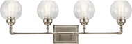 Kichler 45593AP Niles Modern Antique Pewter 4-Light Bathroom Vanity Light