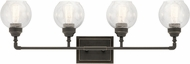 Kichler 45593OZ Niles Contemporary Olde Bronze 4-Light Bathroom Sconce