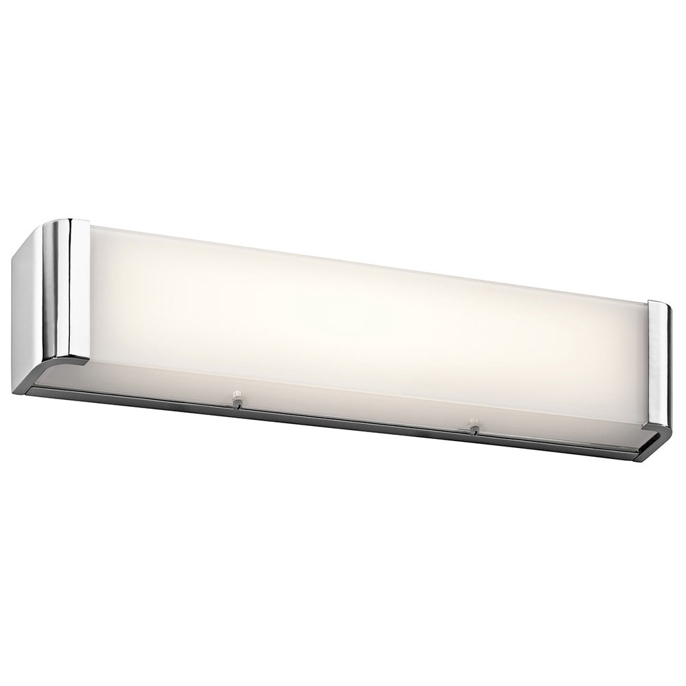Kichler 45617chled Landi Contemporary Chrome Led 24 Bathroom Lighting Fixture