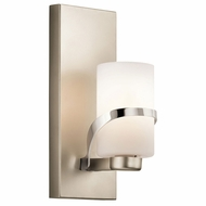 Kichler 45627PN Stelata Contemporary Polished Nickel Wall Lighting Sconce