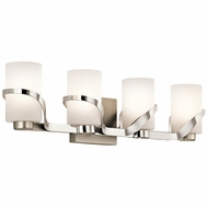 Kichler 45630PN Stelata Modern Polished Nickel 4-Light Bathroom Vanity Lighting