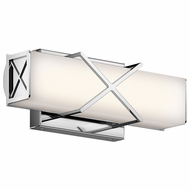 Kichler 45656CHLED Trinsic Contemporary Chrome LED 12 Vanity Light Fixture
