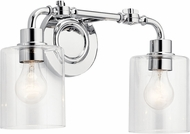 Kichler 45665CH Gunnison Contemporary Chrome 2-Light Vanity Lighting Fixture