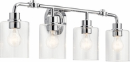 Kichler 45667CH Gunnison Contemporary Chrome 4-Light Bathroom Wall Sconce