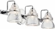 Kichler 45693CH Talland Modern Chrome 3-Light Bathroom Light