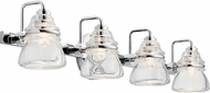 Kichler 45694CH Talland Contemporary Chrome 4-Light Bathroom Lighting Fixture