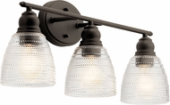 Kichler 45697OZ Karmarie Modern Olde Bronze 3-Light Bath Light Fixture