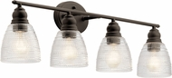 Kichler 45698OZ Karmarie Modern Olde Bronze 4-Light Bathroom Light Fixture
