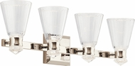 Kichler 45713PNLED Kayva Modern Polished Nickel LED 4-Light Bathroom Lighting Sconce