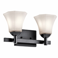 Kichler 45732BK Serena Black 2-Light Bathroom Wall Sconce