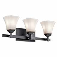 Kichler 45733BK Serena Black 3-Light Bathroom Light Sconce