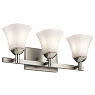 Kichler 45733NI Serena Brushed Nickel 3-Light Bathroom Lighting Sconce