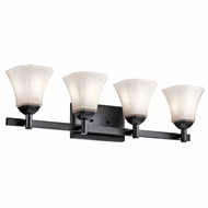 Kichler 45734BK Serena Black 4-Light Bathroom Sconce Lighting