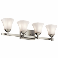 Kichler 45734NI Serena Brushed Nickel 4-Light Bath Lighting Sconce
