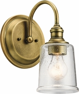 Kichler 45745NBR Waverly Contemporary Natural Brass Wall Light Sconce