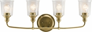 Kichler 45748NBR Waverly Contemporary Natural Brass 4-Light Bathroom Lighting