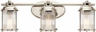 Kichler 45772PN Ashland Bay Polished Nickel 3-Light Bath Lighting