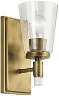 Kichler 45866NBR Audrea Contemporary Natural Brass Wall Sconce