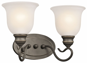 Kichler 45902OZ Tanglewood 2-lamp Small Bronze Vanity Lighting