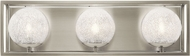 Kichler 45918NI Karia Contemporary Brushed Nickel Halogen 3-Light Bathroom Lighting