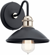 Kichler 45943BK Clyde Contemporary Black Wall Mounted Lamp